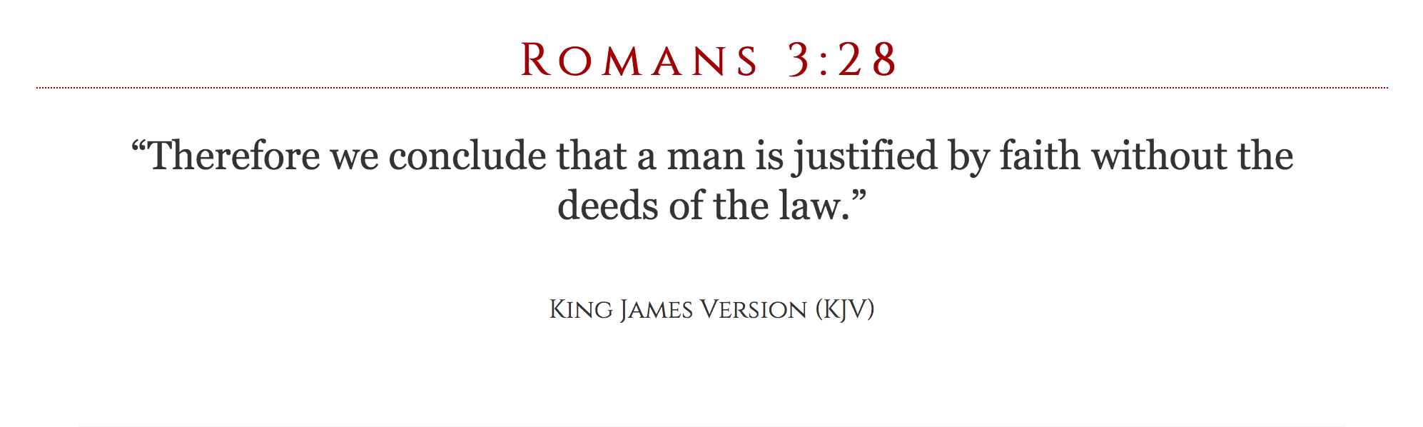 Romans 3:28