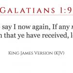 Galatians 1:9